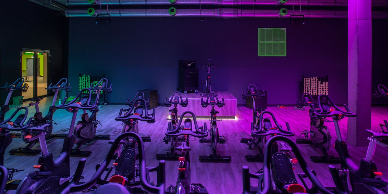 spinning studio interior