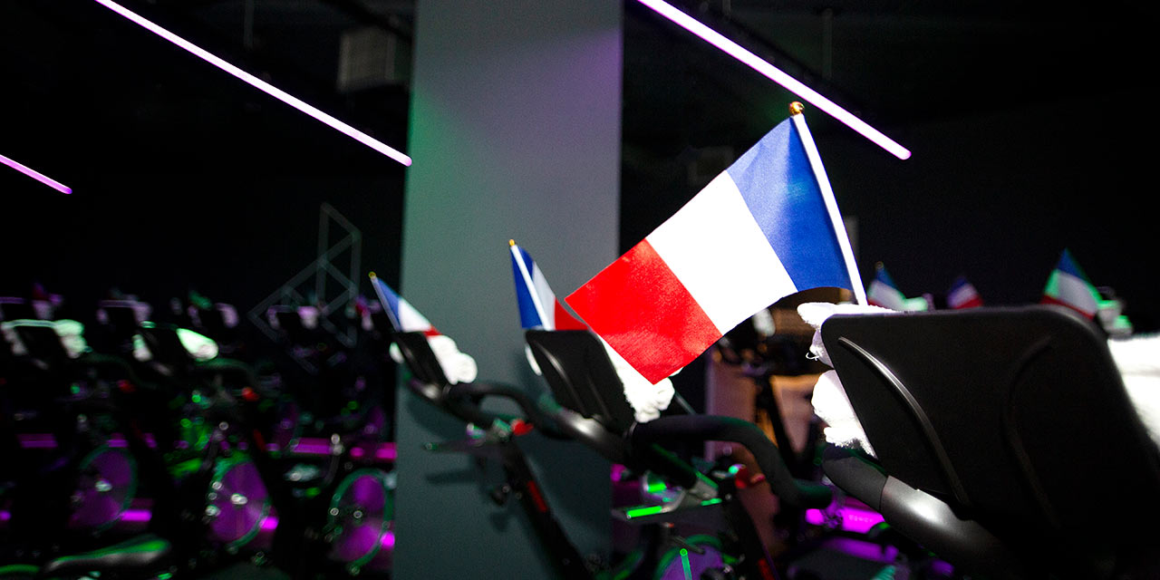 french flag tour de france digme event